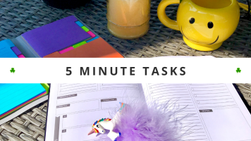 Productive Things To Do At Home • Little Tasks You Can Complete In Less Than 5 Minutes • Productivity Tips For Getting Things Done When You're Short On Time