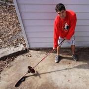 Weighted hockey stick drills