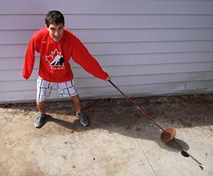 Weighted Hockey Stick Drills