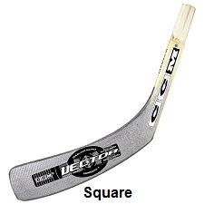 Hockey stick blade with square toe