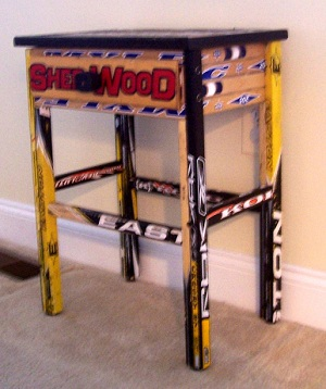 Hockey Stick Night Table More Uses Suggested By Readers