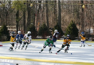 Win A Full Backyard Hockey Rink Kit With Boards Winner - Backyard roller hockey rink