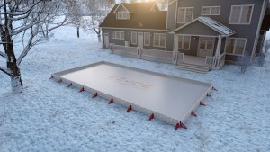 Learn to skate on synthetic ice surface