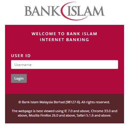 Bank Islam Login - Forgot Bank Islam Login ID | bankislam.biz