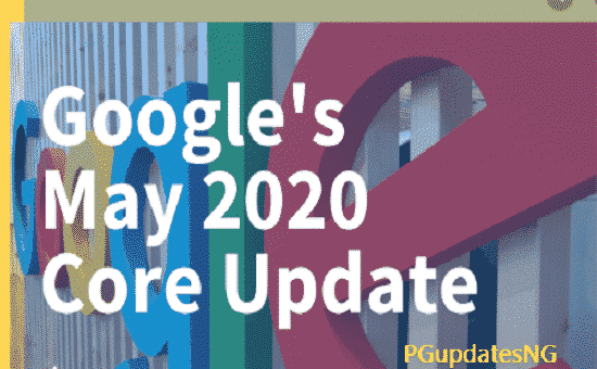 Google Core Update - Google May Core Update 2020