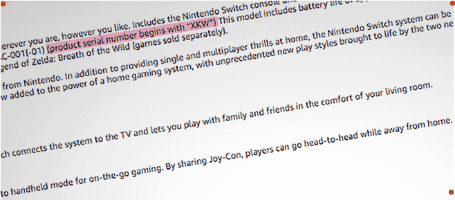 How to know new Nintendo switch from old Nintendo switch