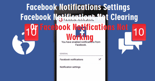 Facebook Notifications Settings - Facebook Notifications not clearing