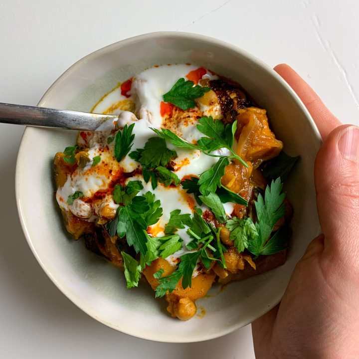 Spiced Kabocha Squash and Chickpea Stew