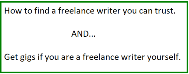 how to find a freelance writer you can trust