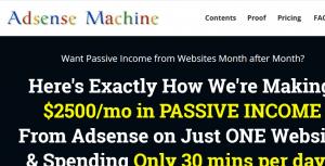 adsense money machine review screenshot