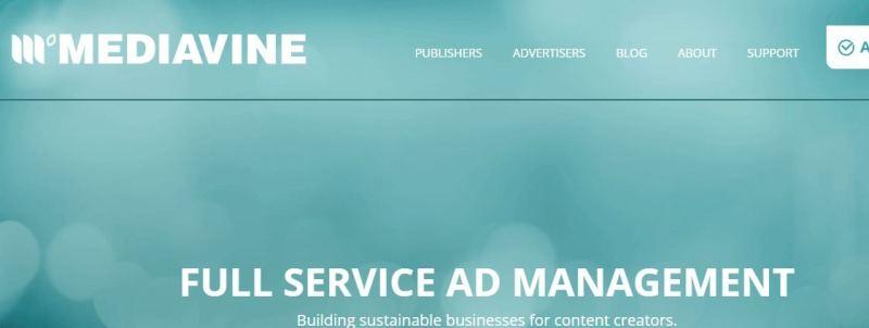 mediavine home page