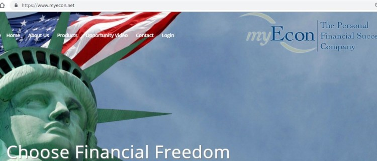 my econ review homepage screenshot