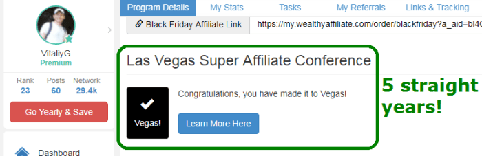 wealthy affiliate vegas conference