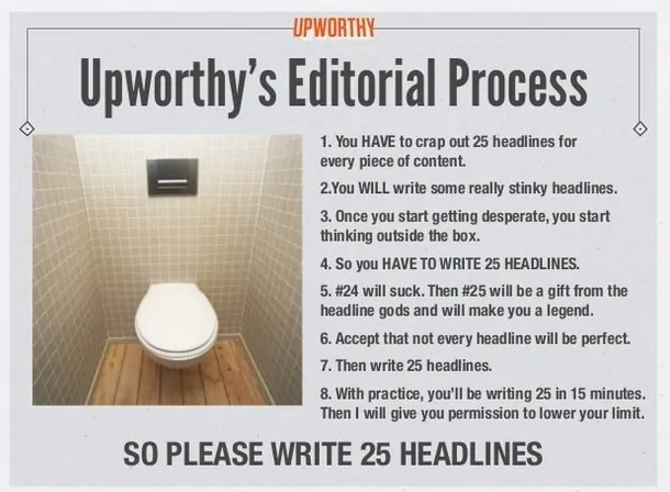 Upworthy's 25 headlines