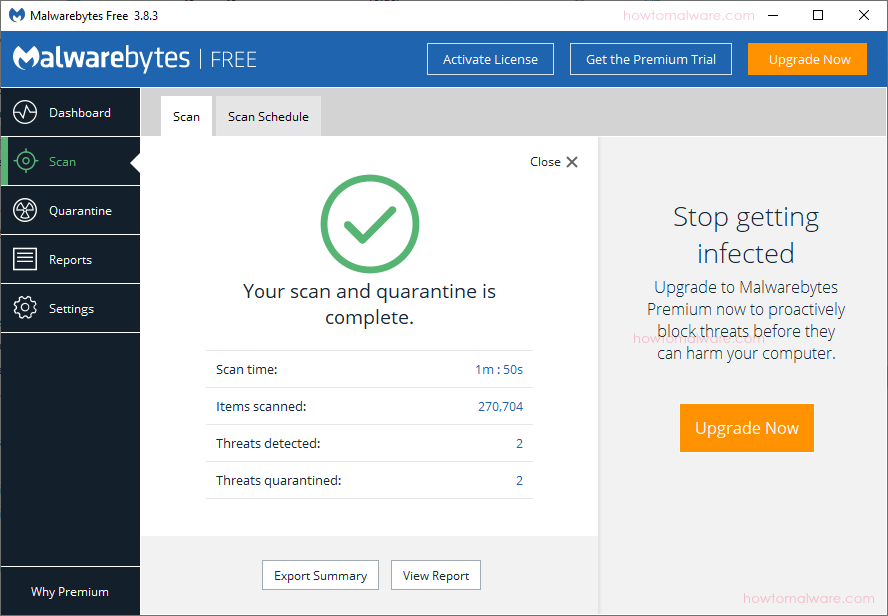 malwarebytes removed