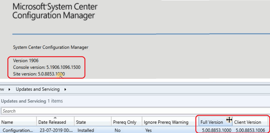 SCCM 1906 Upgrade
