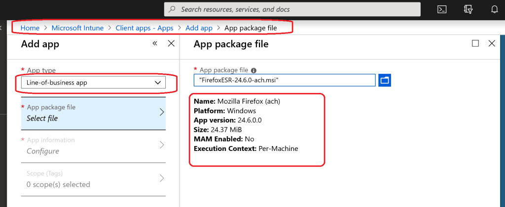 LOB MSI App deployment - Intune Application Model Deployment Guide