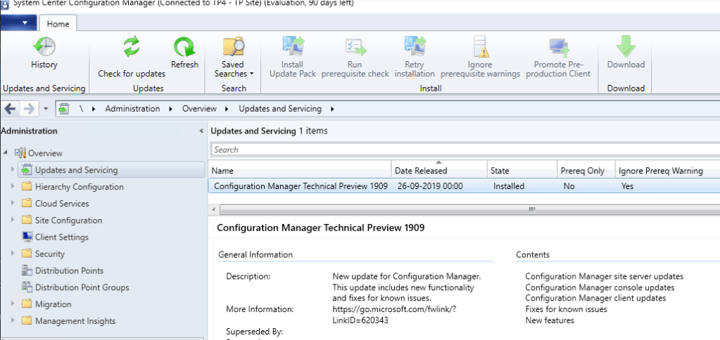 SCCM 1909 New Features