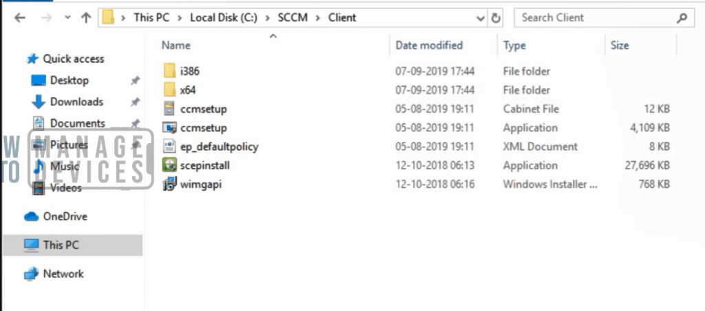 install SCCM client manually - Source