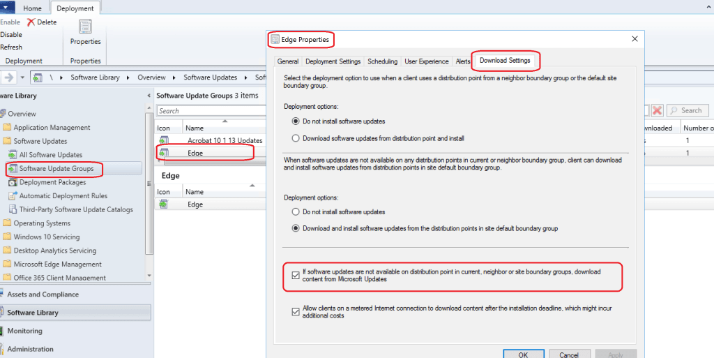 Download Settings -  SCCM Config to Help to reduce VPN Bandwidth