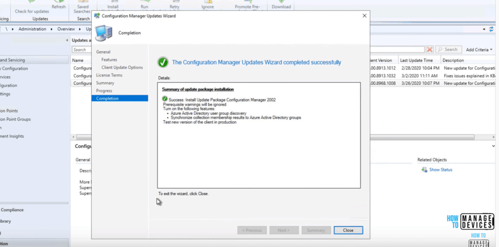 Close - Start the Installation Process - SCCM 2002 Installation Step by Step Guide
