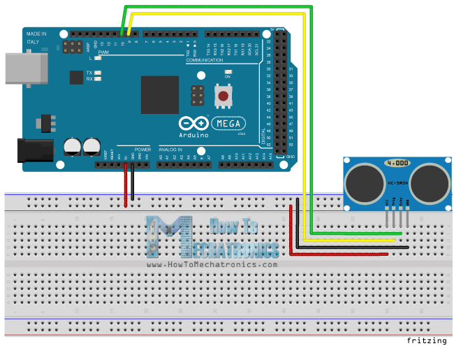 ultrasonic motion detector circuit diagram ford sierra wiring sensor hc sr04 and arduino tutorial how it works