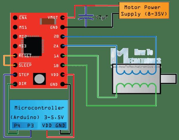 stepper motor controller arduino code