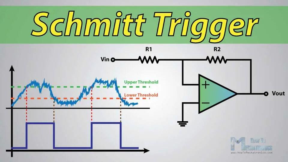 Asymmetrical Inverting Schmitt Trigger Electronics Tutorial