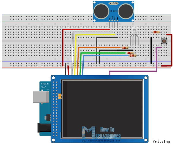 arduino lcd screen wiring diagram kenmore elite dishwasher tft touch tutorial screenn circuit schematica