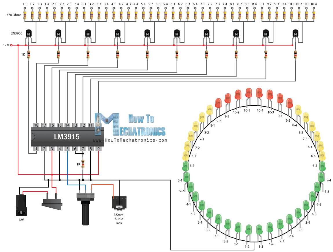 small resolution of infinity mirror music vu meter project circuit schematics