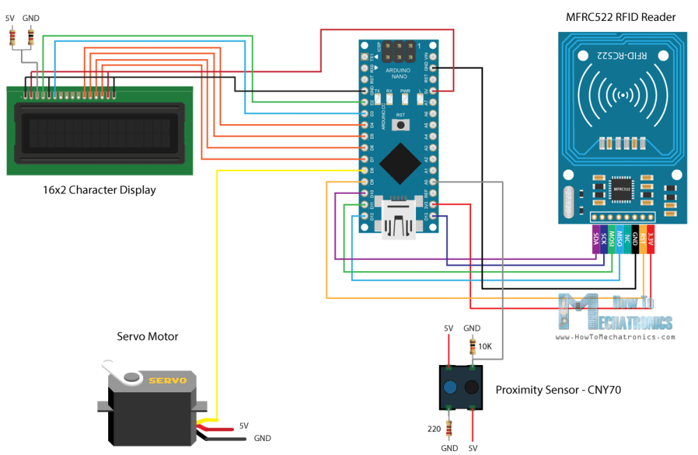 medium resolution of arduino rfid door lock access control project
