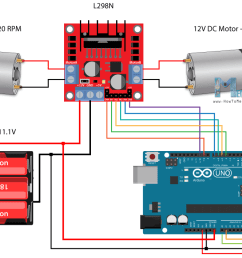 arduino robot car control using l298n driver circuit schematic [ 1200 x 709 Pixel ]