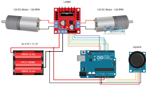 small resolution of arduino robot car control using l298n driver circuit schematic