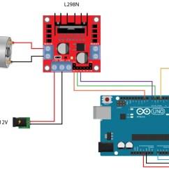 L298 H Bridge Circuit Diagram 3d Horse Skeleton Arduino Dc Motor Control Tutorial L298n Pwm And