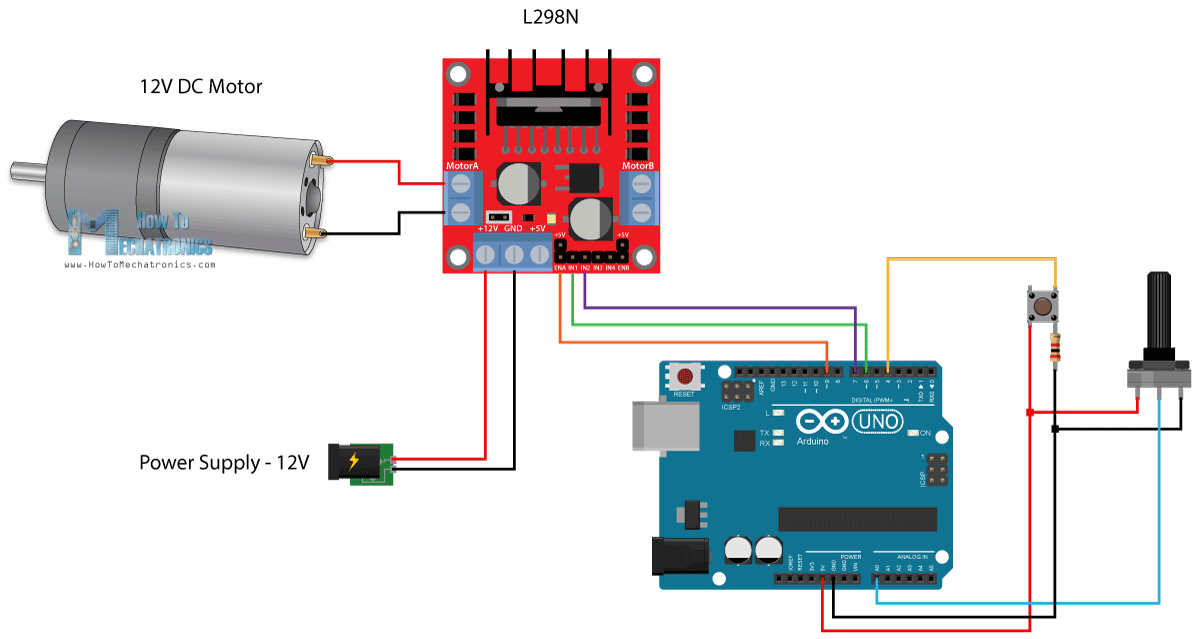 Dc Motor Arduino  impremedia