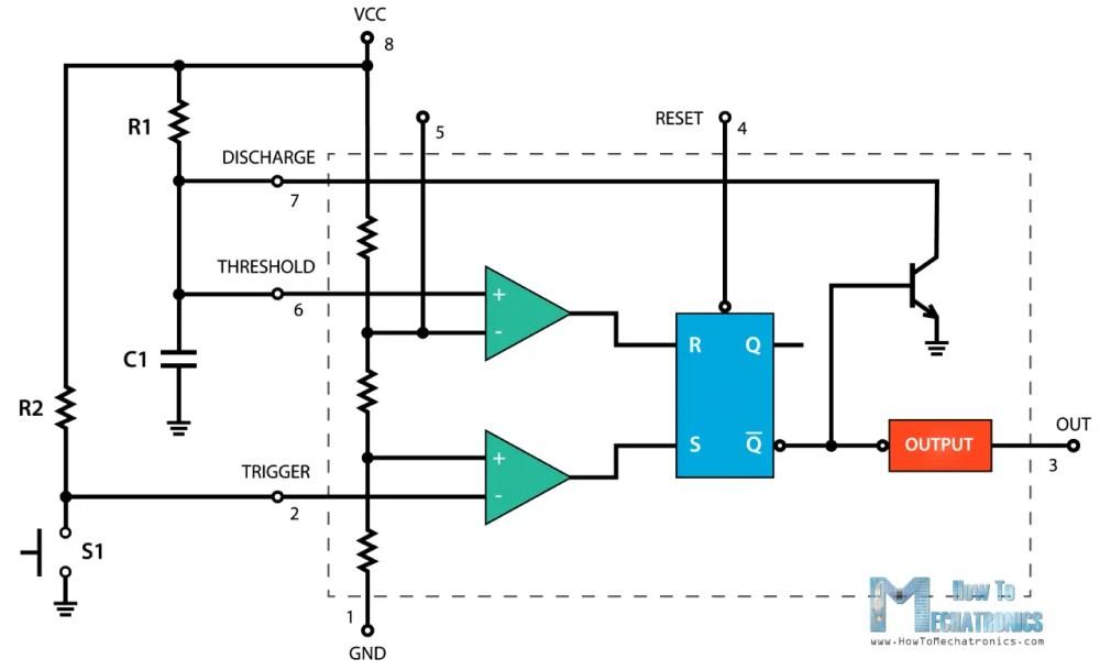 medium resolution of 555 timer monostable mode