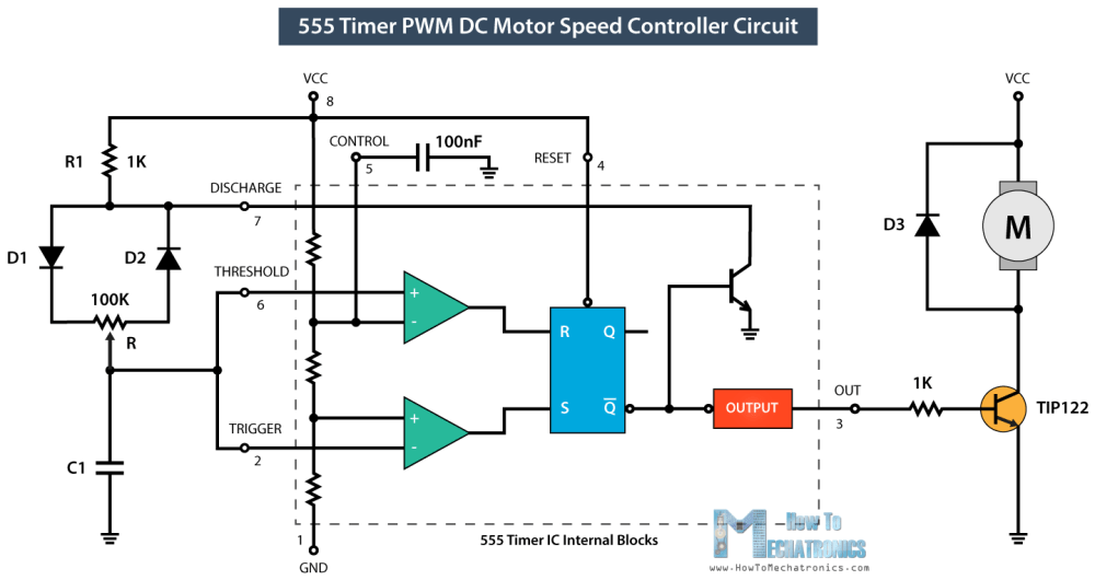 medium resolution of how to make a pwm dc motor speed controller using the 555 timer icpwm dc motor