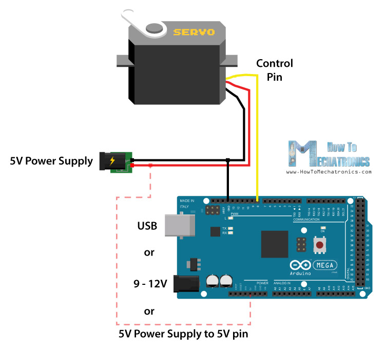 Servo Motor Tester Circuit Diagram Using Ic 555