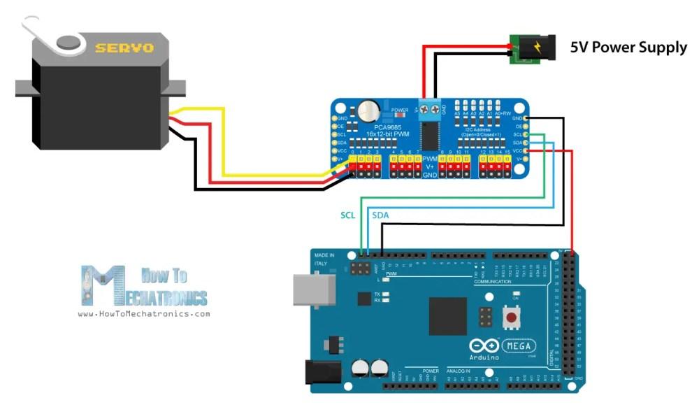 medium resolution of arduino and pca9685 circuit schematic
