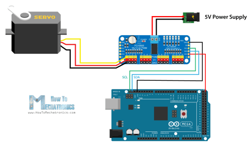 small resolution of arduino and pca9685 circuit schematic