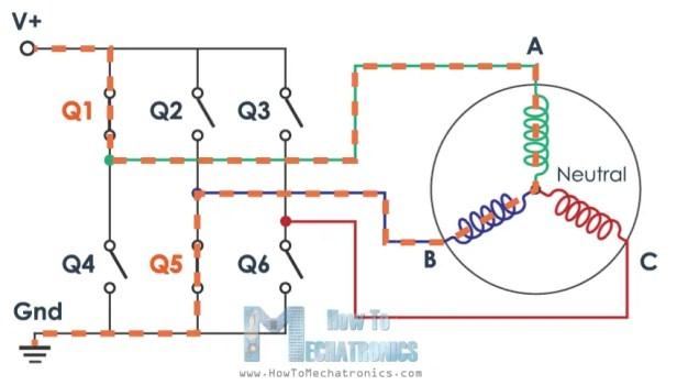 Brushless motor star connection