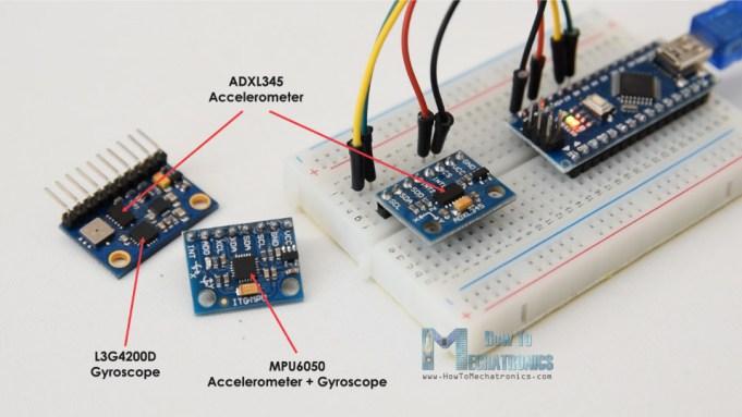 adxl345 accelerometer and l3g4200d gyrscope or mpu6050 6dof module