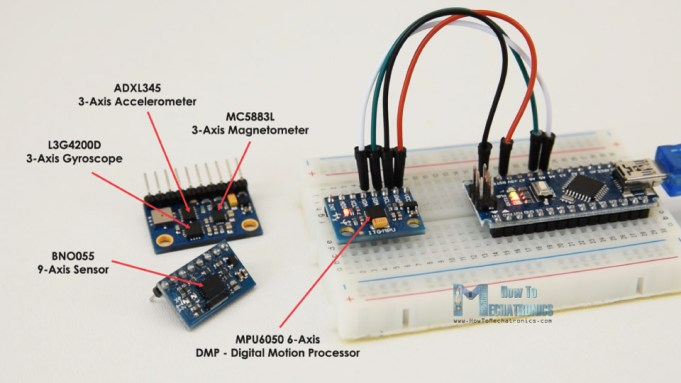 Absolute orientation sensors - MPU6050 BNO055