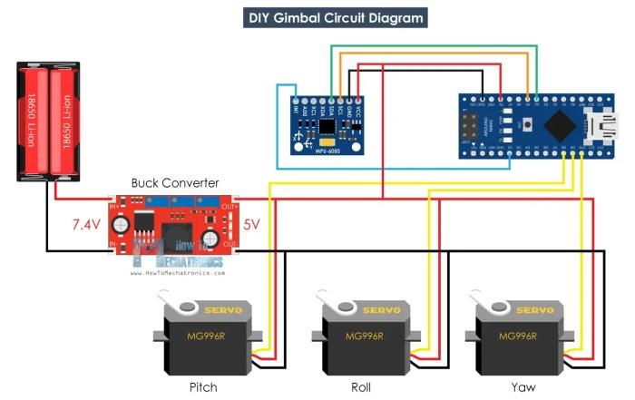 DIY Arduino Gimbal - Self-Stabilizing Platform