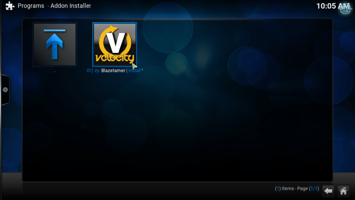 install Velocity addon