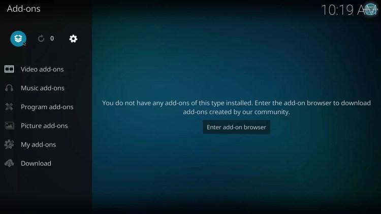 Addon browser on Kodi 17 with estuary