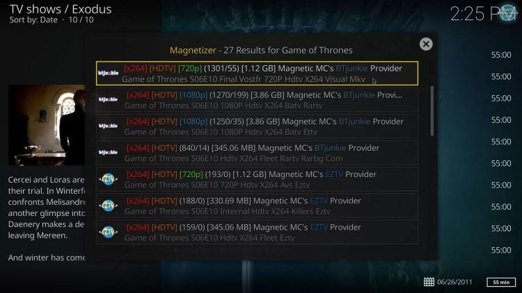 Magnetizer torrent results on magnetic for kodi