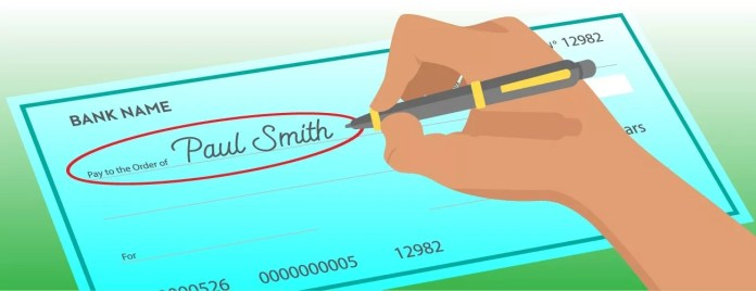 How to write a check - payee