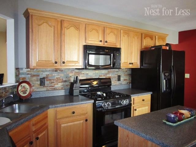 kitchen cabinet crown molding ventilation system mini makeover on my cabinets how to nest we