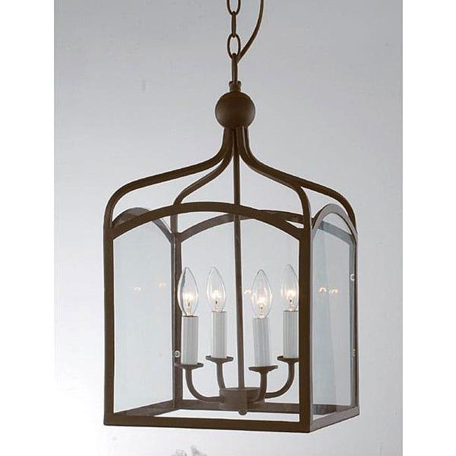 Glass Candelabra Chandelier